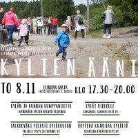 KYLIEN ÄÄNI -iltama 8.11. klo 17.30-20