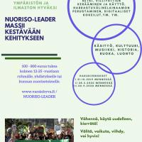 Nuoriso-Leader -hankkeen toimenpiteiden hakuaika 28.2.2020 asti