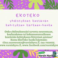 EkoTeko-hanke toivottaa hyvää Uutta Vuotta 2020!