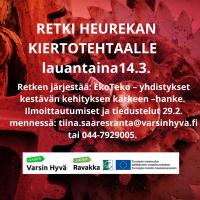 Hyppää EkoTeko-hankkeen kyytiin Heurekaan lauantaina 14.3!