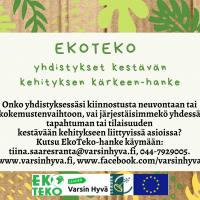 EkoTeko-hankkeen tapahtumakalenteri