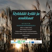 Älykkäät kylät ja asukkaat -ilta, Naantalissa 16.9!