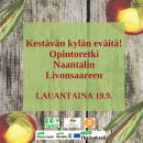 Kestävän kylän eväitä – Opintoretki Livonsaareen lauantaina 19.9!