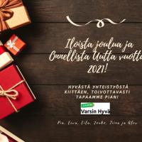 Iloista Joulua ja Onnellista Uutta Vuotta 2021