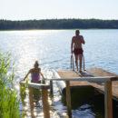 Taivassalon Helsinginrantaan kunnostettiin upea uimapaikka