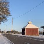 Kuvassa talvinen Aurajoentie.